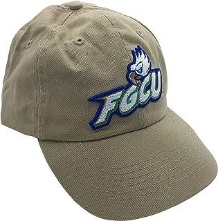 Tailgate Heritage FGCU Florida Gulf Coast University Eagles Khaki Hat Cap with Leather Strap