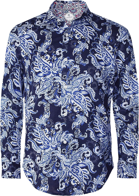 34c8fec7 Ganesh Men's Men's Men's Cotton Paisley Shirt L (Nd) 532ee6 - tunic ...