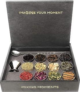 GIN BOX con 12 botánicos un jigger para servir tu Gin y cuchara especial para Gin