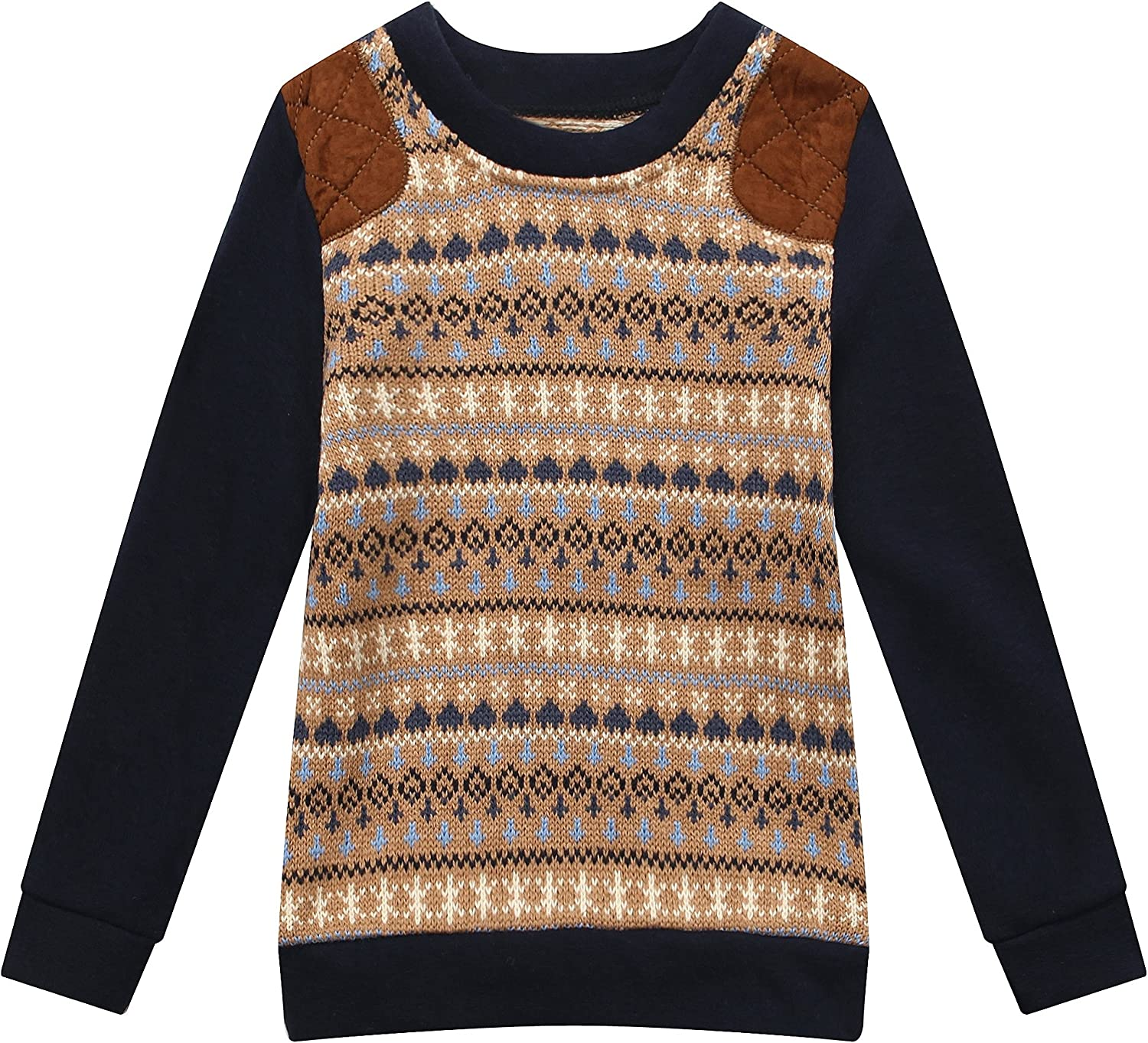 Richie House Boy's Sweater with Knit Sleeve RH1427