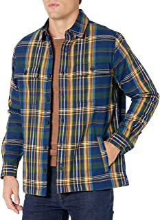 Amazon Brand - Goodthreads Men's Sherpa Lined Long-Sleeve Flannel Shirt Jacket