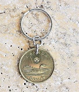 Canadian Loonie 1 Dollar Coin Key Ring, Keychain