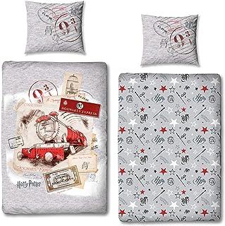 Ropa de cama de invierno de 135 x 200, 80 x 80, de Harry Potter Hogwarts Express, franela, ropa de cama infantil suave, con cremallera