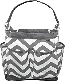 FinWings Portable Caddy, Diaper Bag Caddy Organizer, Baby Pool Beach Bag, Bath Organizer, Cleaning Supplies Tote, Cosmetic Makeup Bag 7 Storage Compartments Removable Bottom Insert Durable Waterproof