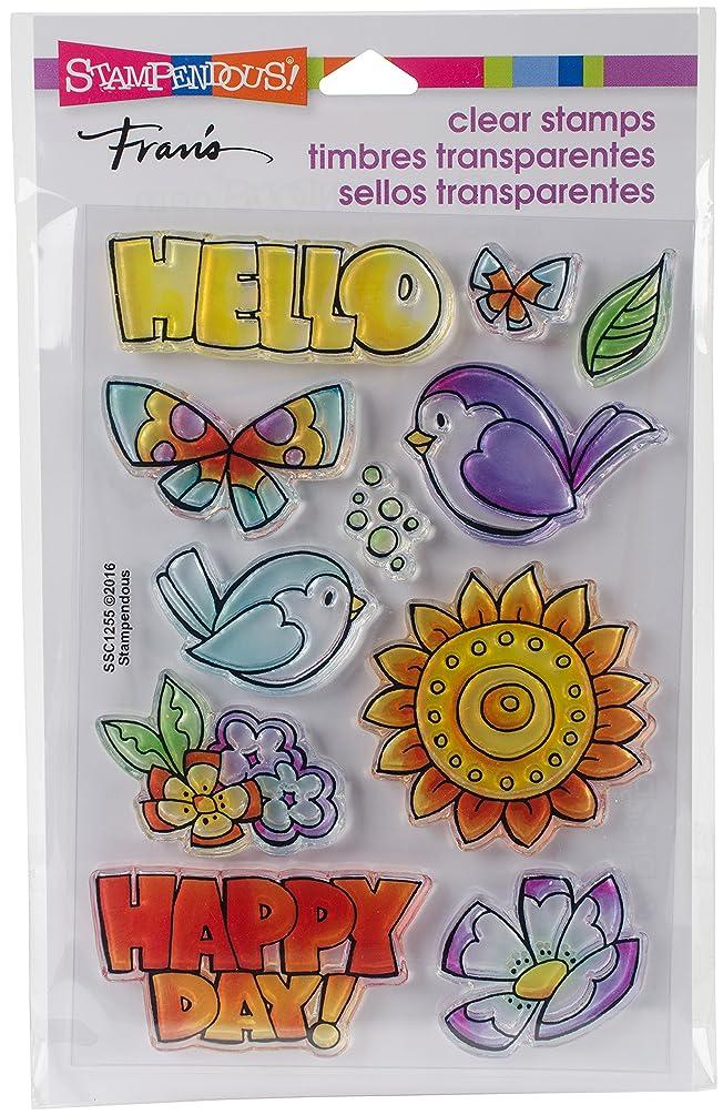 Stampendous Clear Stamp Set, Happy Birds