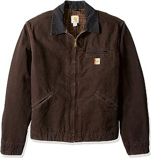 Carhartt Men's Big & Tall Blanket Lined Sandstone Detroit Jacket J97