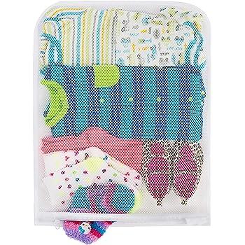 Smart Design Wash Bag w/ Safety Zipper - Washing Machine Safe - Fine Mesh Nylon Polyester - Bra, Hosiery, Pantyhose, Delicates, Lingerie, & Baby Clothes (18 x 14 Inch) [White]