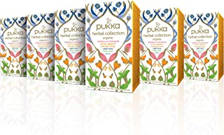 Pukka Herbal Collection, Selection of Five Organic Herbal Teas (6 Pack, 120 Tea bags)