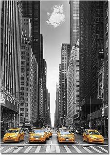 Panorama Lienzo Taxis New York 21 x 30 cm Impreso en Lienzo Bastidor Cuadros Decoración Salón Cuadros para Dormitorio Cuadros Lienzos Decorativos Cuadros Modernos