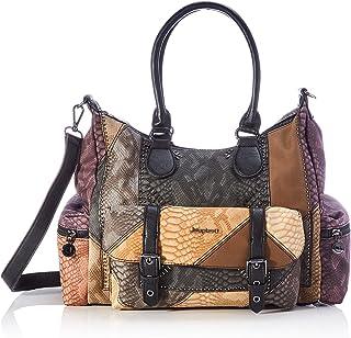 Desigual ACCESSORIES PU SHOULDER BAG, Sac Femme, marron, U