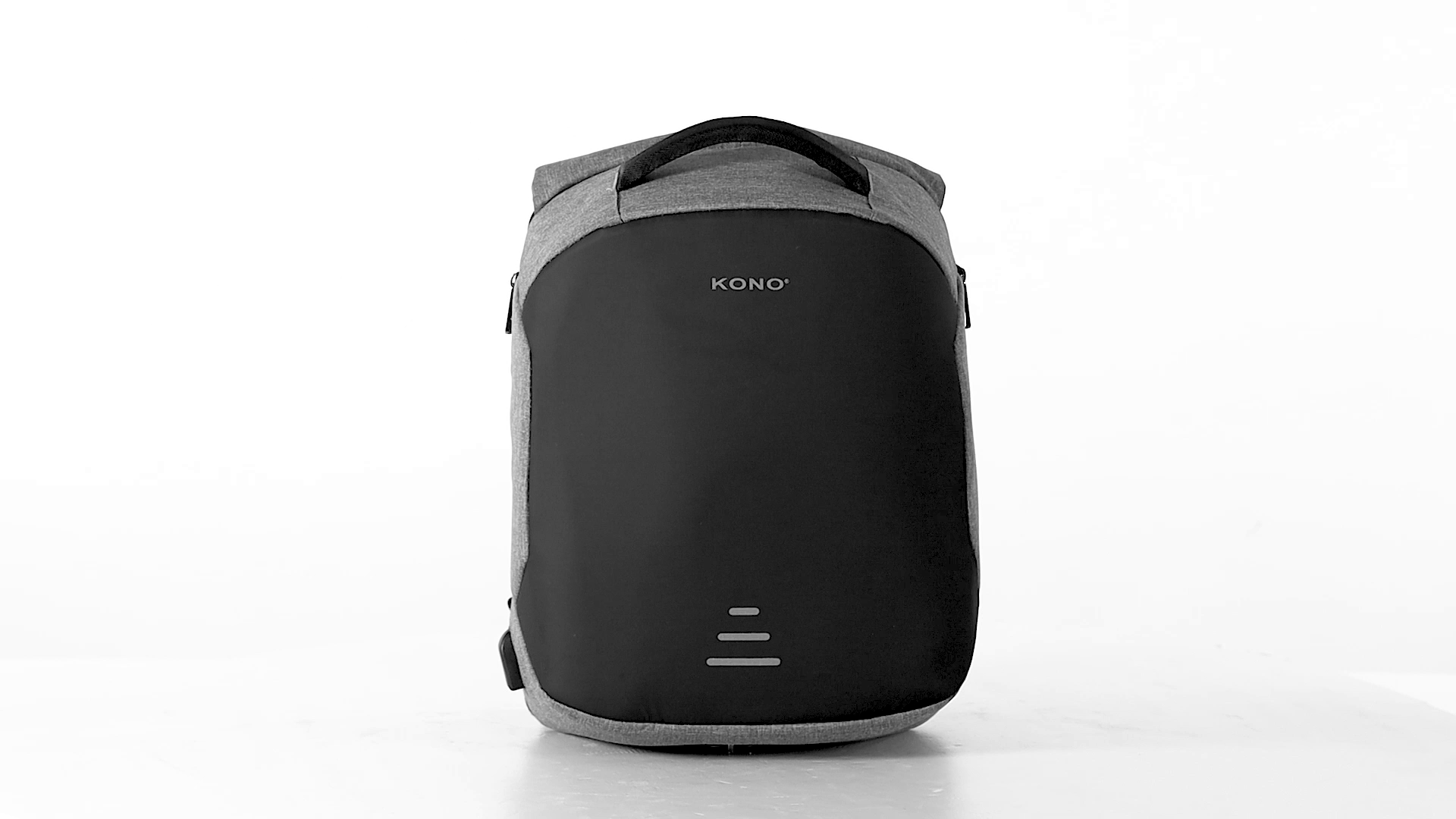 Kono Sac /à Dos de Voyage pour Ordinateur Portable avec Port de Charge USB r/ésistant /à leau pour Homme Compatible avec Ordinateur Portable de 15 Pouces Gris
