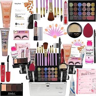 Maleta Maquiagem Com Kit Maquiagem Top Ruby Rose Liquidação