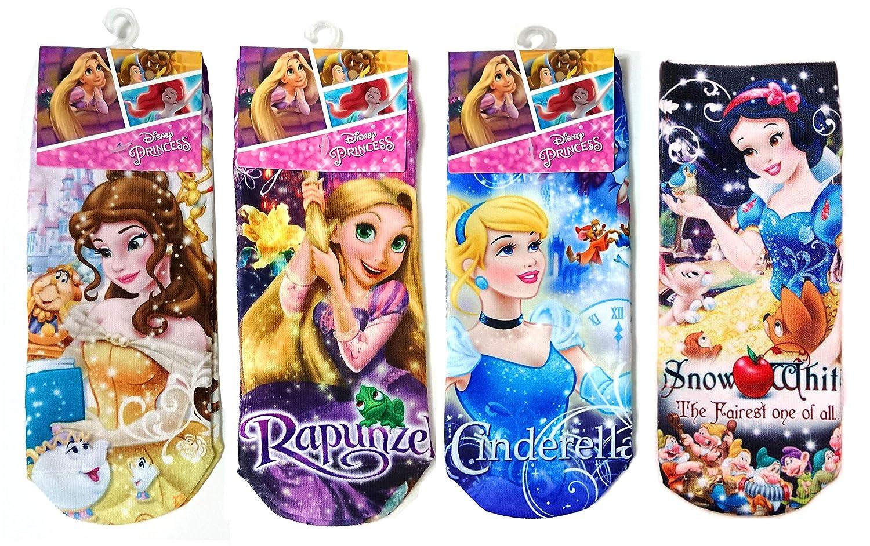 ディズニー プリンセス レディースソックス ドリーム 4柄セット(ベル?ラプンツェル?シンデレラ?白雪姫) 女性用靴下