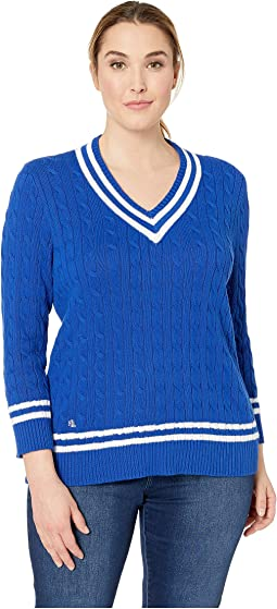 Plus Size Cotton Cricket Sweater