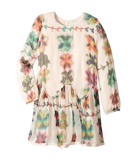 Chloe Kids Couture Mini Me Long Sleeve Watercolored Details Dress (Little Kids/Big Kids)