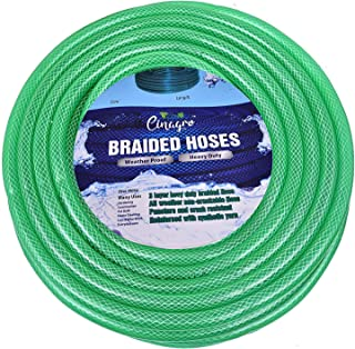 CINAGRO™ - Heavy Duty 3 Layered Braided Water Hose Pipe (Size : 1/2 inch - Lenght : 30 Meters) Garden, Car Wash, Floor Clean, Pet Bath, Easy to Connect
