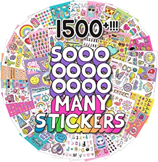 Just My Style 1500+ Sticker Book by Horizon Group USA,Positivity Quotes, Sweet Treats,VSCO Girl, Unicorns & Much More On 4...