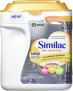 Similac Pro-Sensitive Non-GMO Powder Infant Formula with Iron, 2'-FL HMO for Immune Support, 34 Ounces