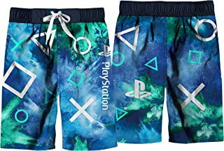 PlayStation Boys Swim Swimwear, Summer Board Shorts Outfit for Kids, Blue, X-Small