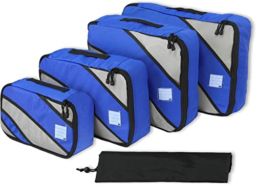 wholesale 4 Set Packing Cube - popular Travel Organizers with Laundry Bag, online sale Blue sale