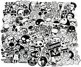 FNGEEN Laptop Stickers Black and White 100pcs Variety Vinyl Car Sticker Motorcycle Bicycle Luggage Decal Graffiti Patches Skateboard Cool Stickers for Laptop(Black and White)