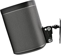 SONOS PLAY 1 Wall Mount, (NOT Compatible with SONOS ONE) Adjustable Swivel & Tilt Mechanism, Single Bracket For Play:1 Speaker with Mounting Accessories, Black, Designed In the UK by Soundbass