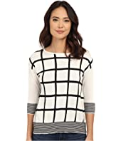Christin Michaels - Virginia Grid Cashmere Sweater