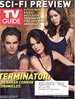 TV Guide Magazine January 21-27 2008 Thomas Dekker Lena Headey Summer Glau Terminator The Sarah Connor Chronicles Si-Fi Preview