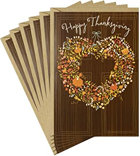 مجموعة هولمارك من بطاقات عيد الشكر، إكليل ريفي (6 بطاقات مع ظرف)