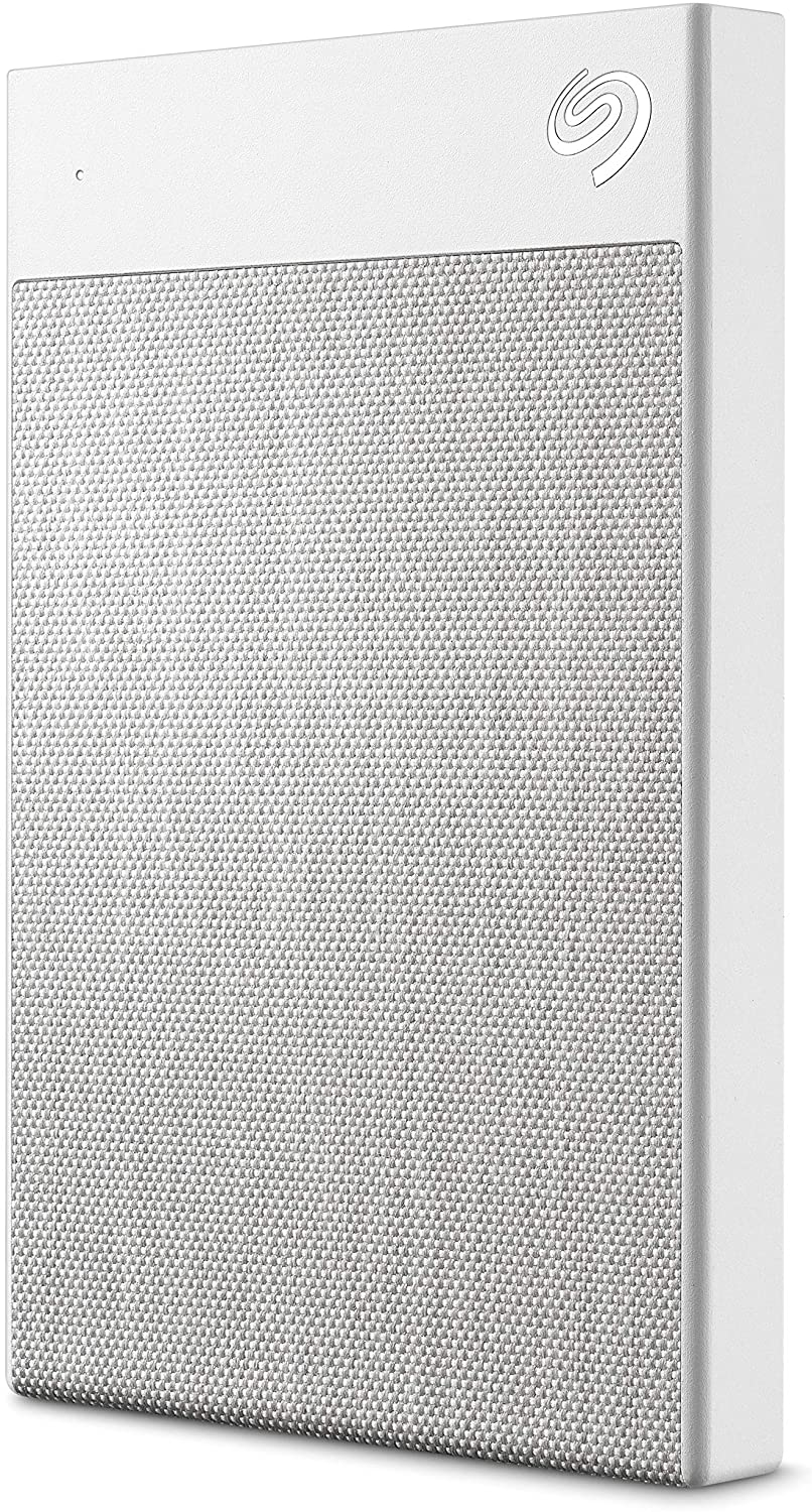 Seagate Backup Plus Ultra Touch HDD 1TB External Hard Drive – White USB-C USB 3.0, 1 year Mylio Create, 4 month Adobe Creative Cloud Photography plan and Rescue Services (STHH1000402)