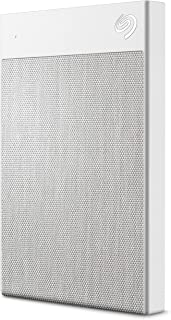 Seagate Backup Plus Ultra Touch 2TB External Hard Drive Portable HDD – White USB-C USB 3.0, 1yr Mylio Create, 2 months Adobe CC Photography, (STHH2000402)