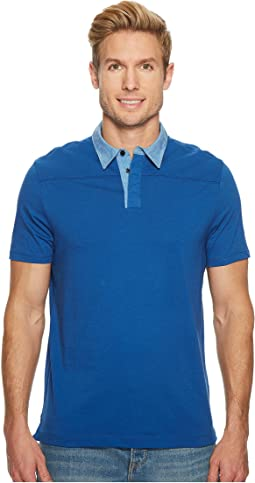 Heathered Collar Pima Cotton Polo