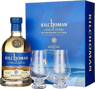 Kilchoman Machir Bay mit Geschenkverpackung mit 2 Gläser Whisky 1 x 0.7 l