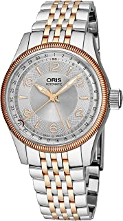 Big Crown Pointer Date Mens Two-Tone Automatic Watch - 40mm Silver Face with Luminous Hands and Sapphire Crystal - Swiss Made Stainless Steel Rose Gold Watch 01 754 7679 4331-07 5 20 77FC