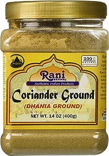 Rani Coriander Ground Powder (Indian Dhania) Spice 14oz (400g) PET Jar ~ All Natural, Salt-Free | Vegan | No Colors | Gluten Free Ingredients | NON-GMO | Indian Origin