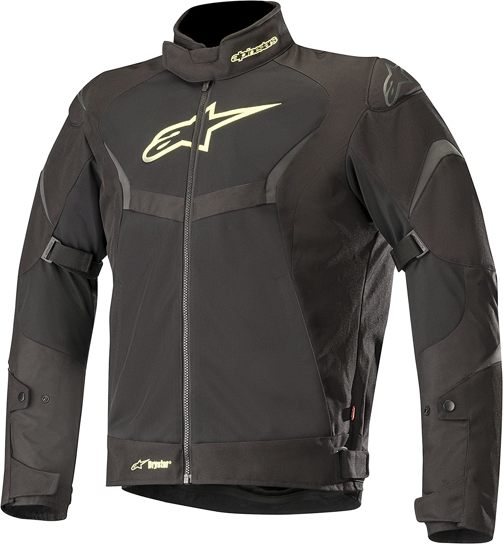 Alpinestars Mens T-Core Air Drystar Waterproof Textile Street Motorcycle Jacket Black//Black Large