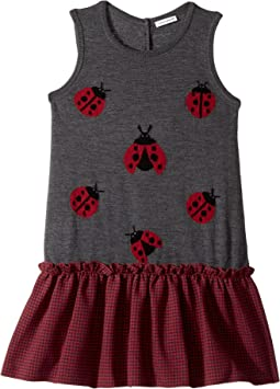 Back to School Lady Bug Dress (Big Kids)