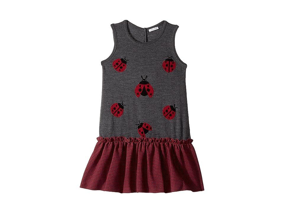 Dolce & Gabbana Kids Back to School Lady Bug Dress (Big Kids) (Grey) Girl