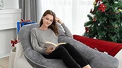 Amazon.com: Queen Rose - Almohada de embarazo, con forma de ...
