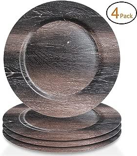wood look melamine plates