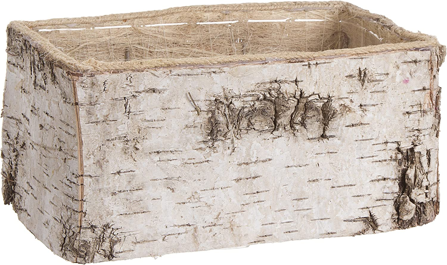Darice 30007408 Craft Ideas and Home Decors, Rectangle Birch Planter, 10 x 5 inches, Natural, 1ct