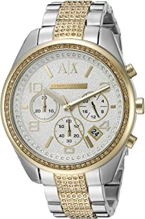 Armani Exchange Women's AX5518 Analog Display Analog Quartz Gold Watch