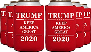 ELEPHIELD Trump 2020 Keep America Great Can Cooler, 12 Pc, RED
