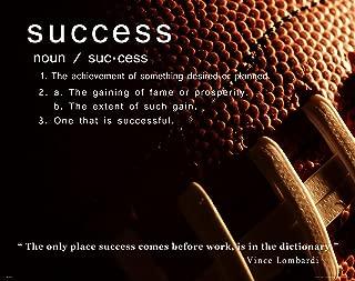 Football Motivational Poster Art Print Success Vince Lombardi Greenbay Packers 11x14