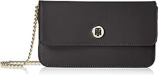 Tommy Hilfiger Women's Mini Monogram Crossover Bag Mini Monogram Crossover Bag, Black, One Size