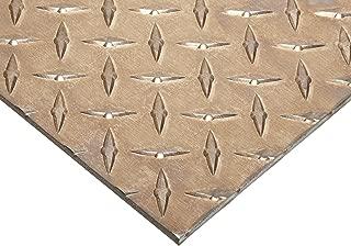 6061 Aluminum Sheet, Unpolished (Mill) Finish, T6 Temper, Diamond Tread, ASTM B209/AMS QQ-A-250, 0.188