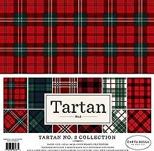 Carta Bella Paper CBTAR82014 Tartan no.2 Collection Kit Paper, Red/Green/Black/Navy/Black