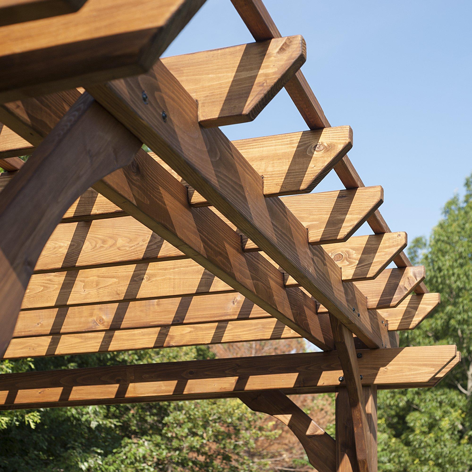 Backyard descubrimiento Cedar Pergola 12 x 10 montaje incluido ...