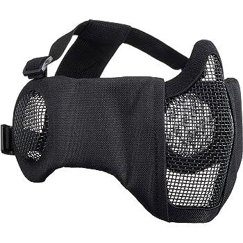 Culture Field サバゲーマスク フェイスマスク サバゲー マスク 耳保護付き (ブラック)