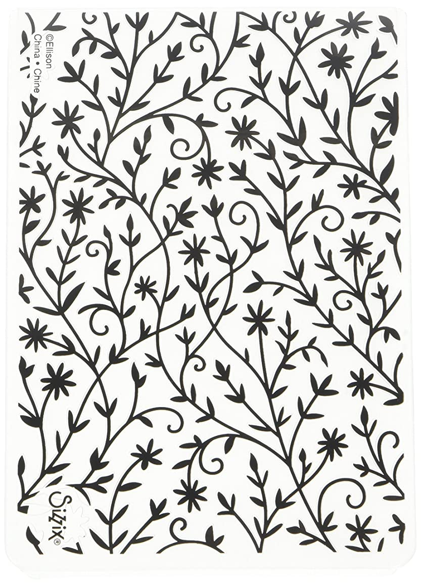 Sizzix 661945 Flower Textured Impressions Embossing Folder